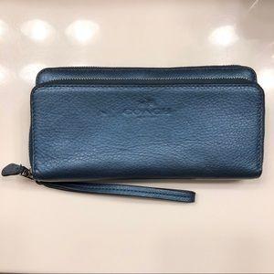 Coach Double Accordian Zip Wallet Wristlet